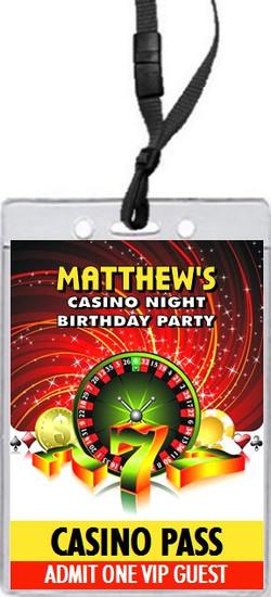 Casino Birthday Party VIP Pass Invitation