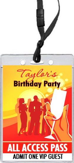 Cocktail Party Birthday VIP Pass Invitation