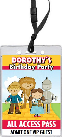 Dorothy & Friends Birthday Party VIP Pass Invitation