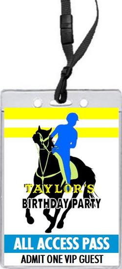 Equestrian Rider Birthday Party VIP Pass Invitation