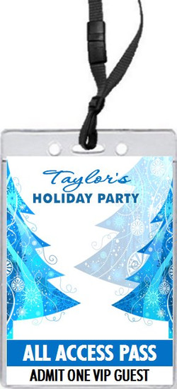 Blue Tree Holiday Party VIP Pass Invitation Front