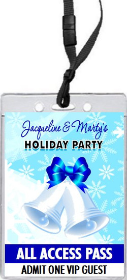 Holiday Bells Holiday Party VIP Pass Invitation Front