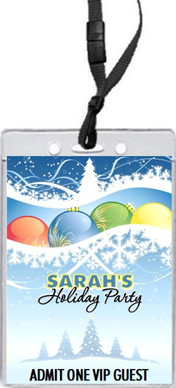 Holiday Scene Holiday Party VIP Pass Invitation Front