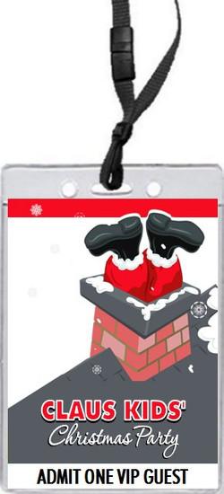 Stuck Santa Christmas Party VIP Pass Invitation Front