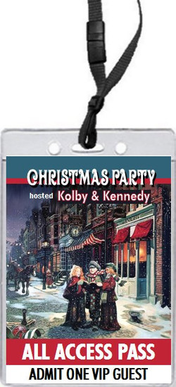 Townsquare Carolers Christmas Party VIP Pass Invitation Front