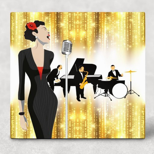 Torch Singer Hardboard Panel Sublimation Printed Wall Art