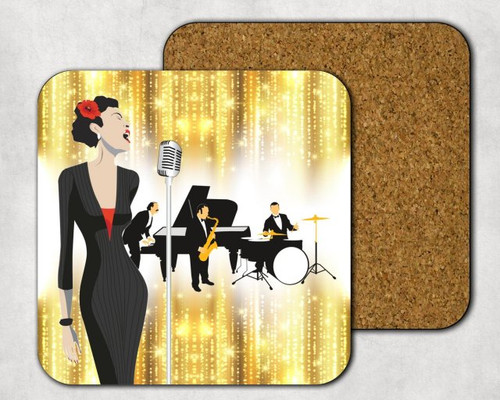 Torch Singer Drink Coaster, Music Theme