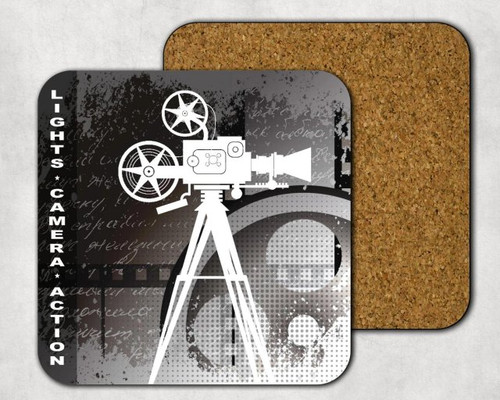 Lights Camera Action Drink Coaster