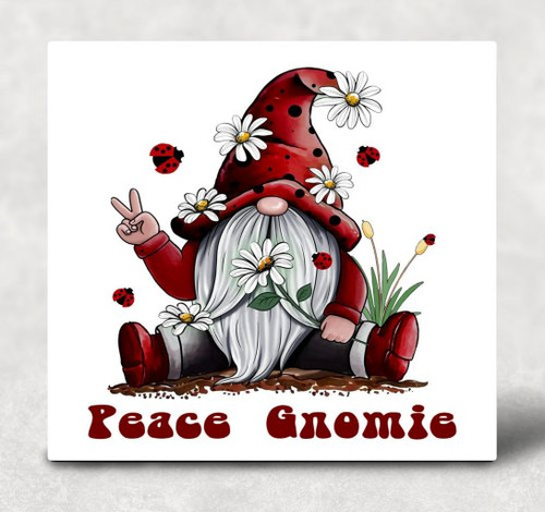 Peace Gnomie Hardboard Art Panel Sublimation Printed Wall Art