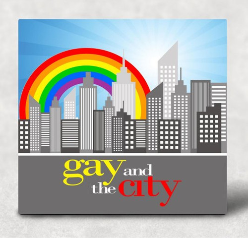 Gay and the City Hardboard Art Panel Sublimation Printed Wall Art
