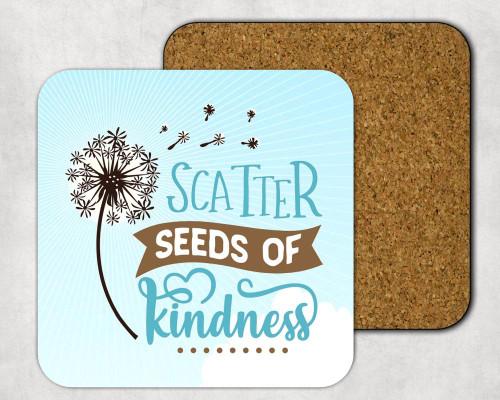Scatter Seeds of Kindness Drink Coaster