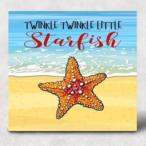 Twinkle Twinkle Little Starfish Hardboard Sublimation Wall Art Panel 6 inch