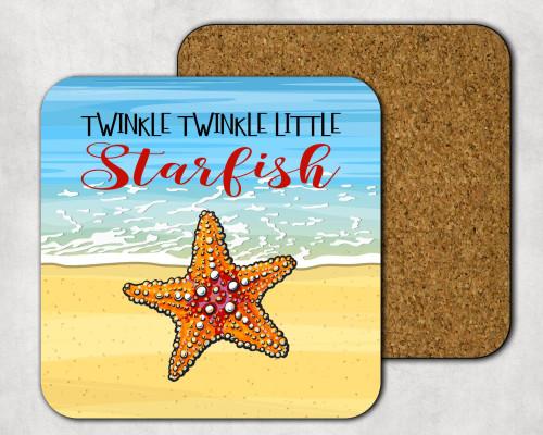 Twinkle Twinkle Little Starfish Drink Coaster