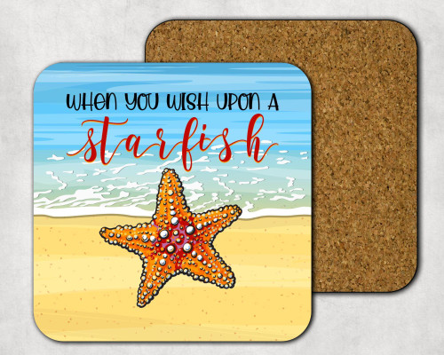 When You Wish Upon A Starfish Drink Coaster