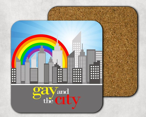 Gay and the City Drink Coaster