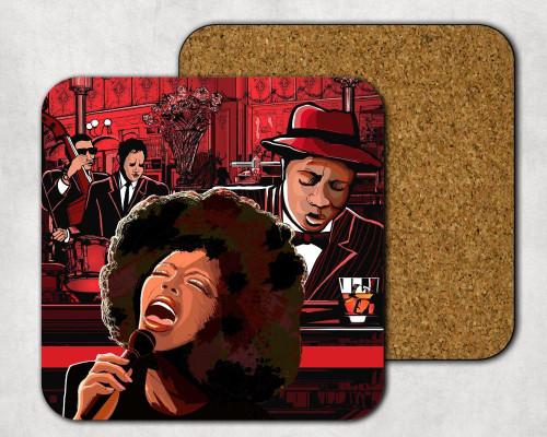 Bourbon Street Drink Coaster, Music Theme