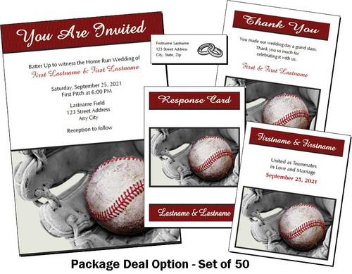 Baseball Wedding Package Deal
