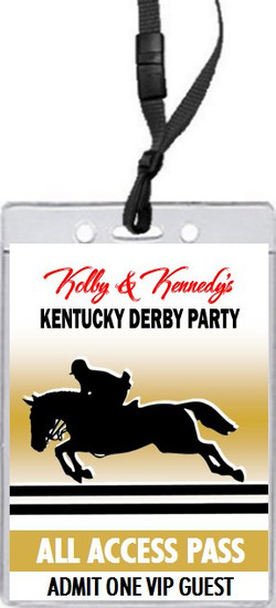 Kentucky Derby Equestrian Party VIP Pass Invitation Front