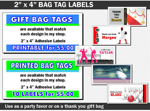 Bag Tag to Match Any Print Villa Invitation Design