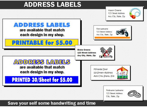 Address Label to Match Any Print Villa Invitation Design