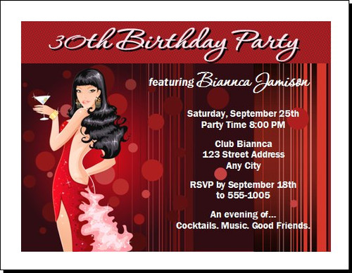 Asian Beauty Birthday Party Invitation
