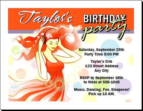 Ginger Girl Birthday Party Invitation