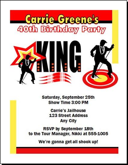 King Rocker Birthday Party Invitation