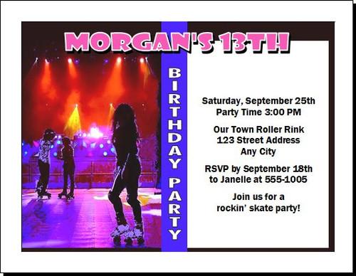 Roller Skating Birthday Party Invitation