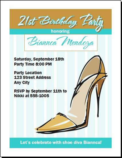 Stiletto Birthday Party Invitation