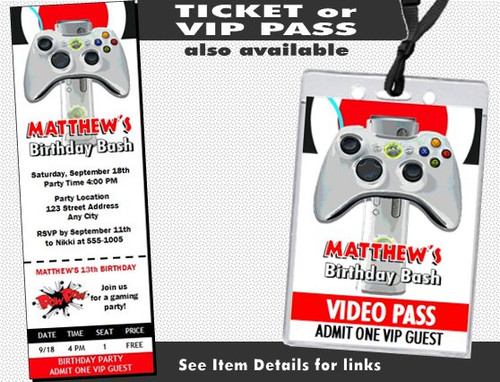 XBox Birthday Party Invitation Other Styles