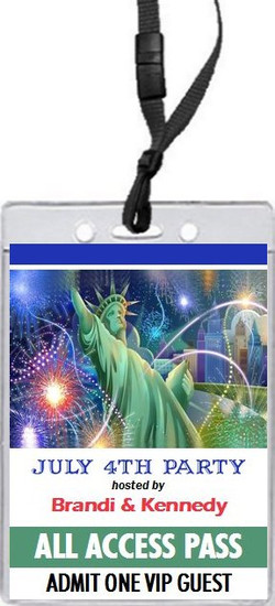Lady Liberty In The City 4th of July Party VIP Pass Invitation Front