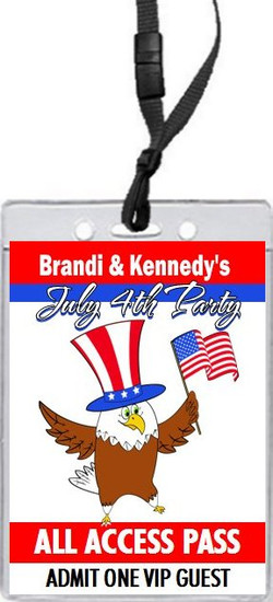 The Patriotic Eagle 4th of July Party VIP Pass Invitation Front