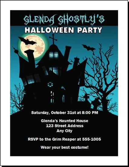 Haunted House Halloween Party Invitation Design 3
