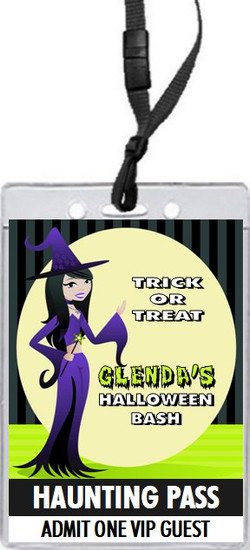 The Good Witch Halloween Party VIP Pass Invitation Front