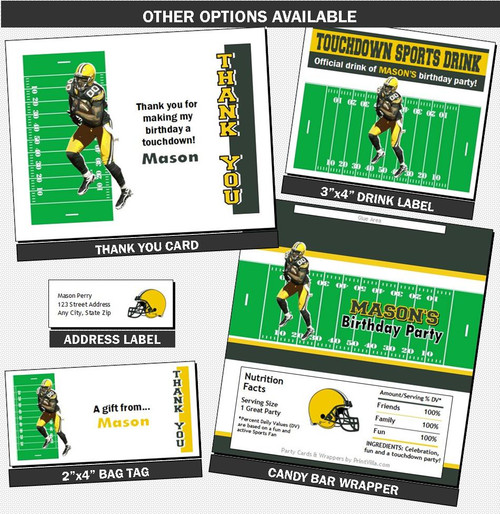 image about Printable Packer Schedule titled Eco-friendly Bay Packers Coloured Soccer Occasion Ticket Invitation, Fixed of 12