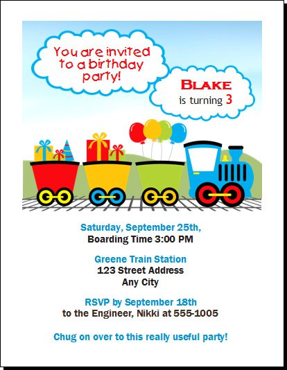 Thomas The Train Inspired Design 2 Birthday Party Invitation Set Of 12