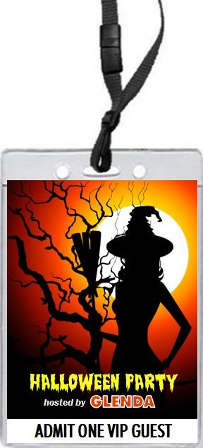 witch tree halloween party vip pass invitation