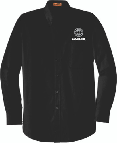 Maguire Industrial Long Sleeve Work Shirt - Button Collar