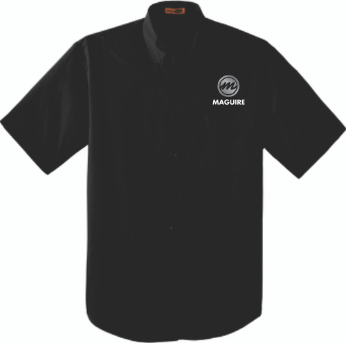Maguire Industrial Short Sleeve Work Shirt - Button Collar