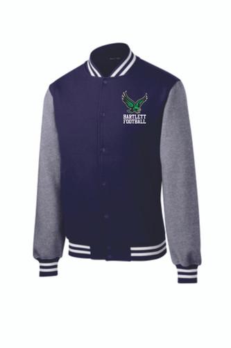 BHS Football Sport Tek Colorblock Fleece Letterman-Style Jacket