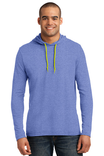 Anvil 100% Combed Ring Spun Cotton Long Sleeve Hooded T-Shirt