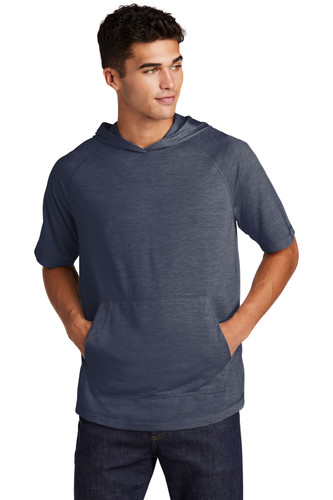 Sport-Tek PosiCharge Tri-Blend Wicking Short Sleeve Hoodie