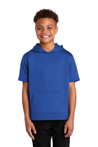 Sport-Tek Youth Sport-Wick Fleece Short Sleeve Hooded Pullover