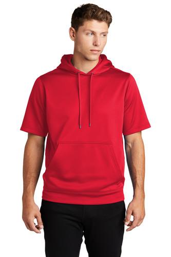 Sport-Tek Sport-Wick Fleece Short Sleeve Hooded Pullover