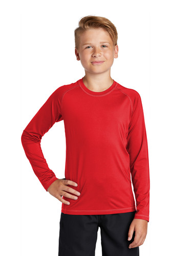 Sport-Tek Youth Long Sleeve Rashguard Tee