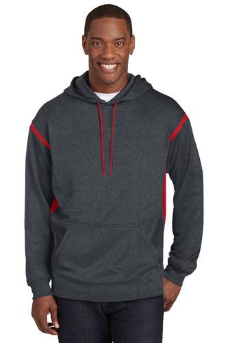 Sport-Tek Tech Fleece Colorblock Hooded Sweatshirt