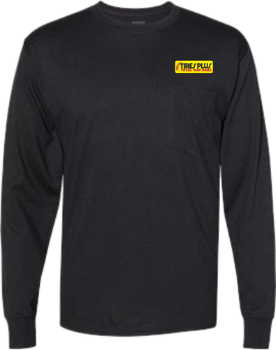 Tires Plus Workwear Long Sleeve Pocket T-Shirt  - Assorted Colors