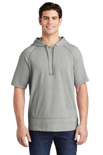 Sport-Tek PosiCharge Tri-Blend Wicking Fleece Short Sleeve Hooded Pullover