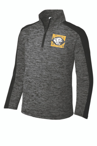 Prairieview Elementary Sport-Tek Youth PosiCharge Electric Heather Colorblock 1/4-Zip Pullover