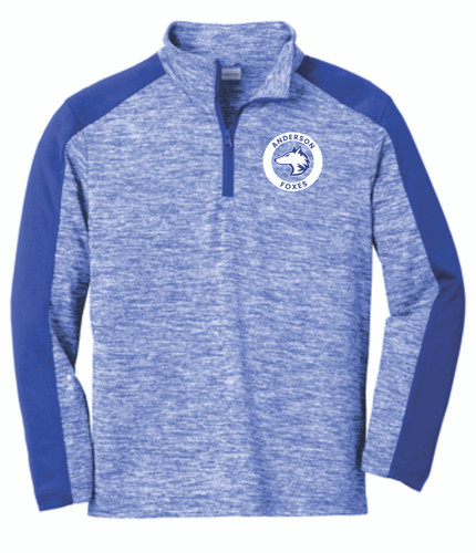 Anderson Elementary Youth Electric Heather Colorblock 1/4-Zip Pullover